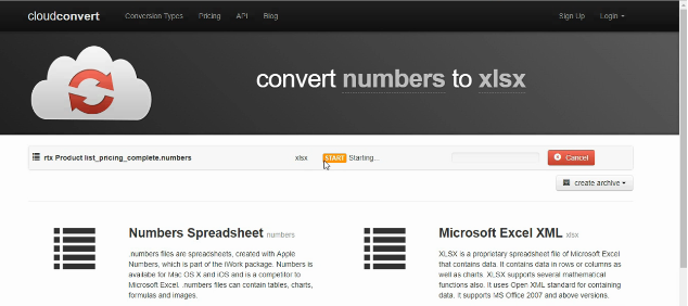How to Convert Numbers to Excel » TubeMint